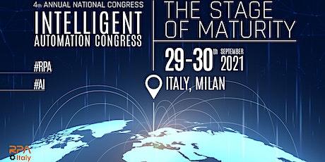 4° National Congress - Intelligent Automation Congress (RPA & AI 2021) biglietti