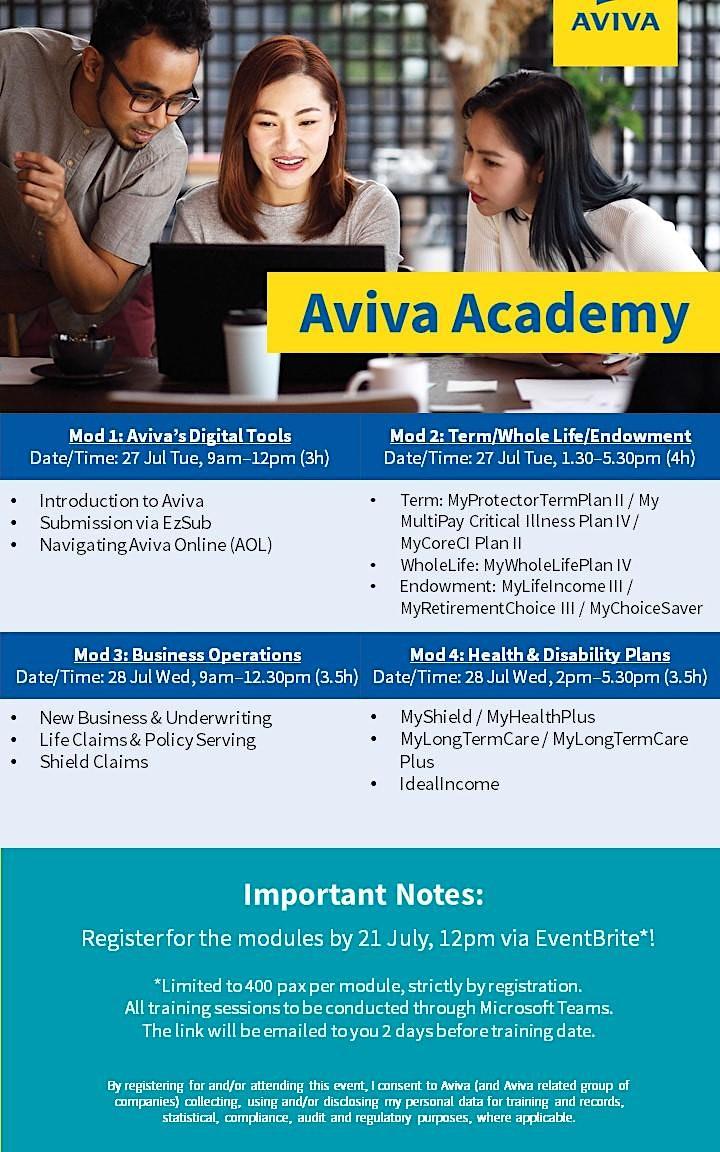 Aviva Academy (27 July 2021) Module 2 - Term/Whole Life/Endowment image