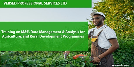 M&E, Data Management & Analysis for Agriculture, and Rural Development Prog tickets