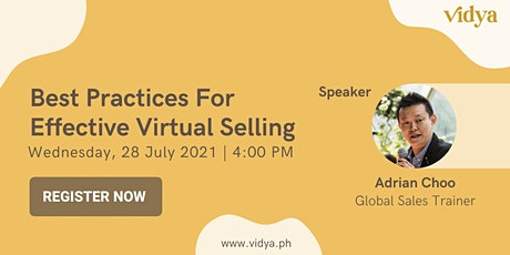 Best Practices for Effective Virtual Selling bilhetes