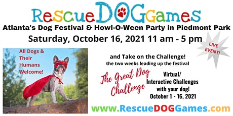 Rescue Dog Games--Atlanta's DOG Festival & HowlOWeen Party in Piedmont Park tickets