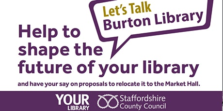 NEW TIME: Burton Library Consultation - Online Focus  5 tickets