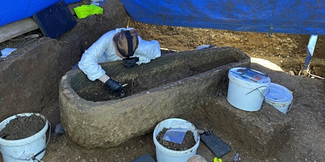 A sarcophagus  and other finds - recent archaeology  in Sydney Gardens Bath tickets