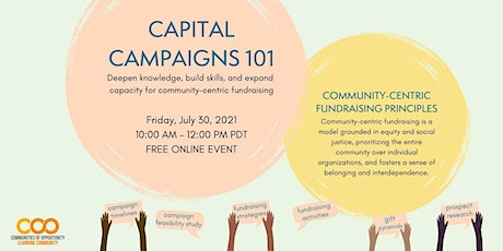 Capital Campaigns 101 tickets