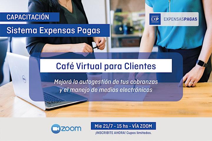 Imagen de Capacitación Sistema Expensas Pagas: Café virtual para Clientes