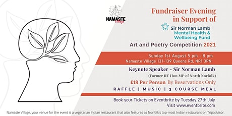 Fundraiser Evening | Mental Health & Well being | Art & Poetry Competition tickets