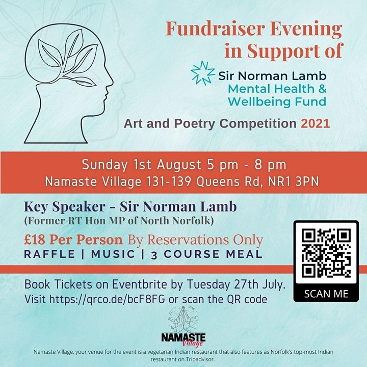 Fundraiser Evening | Mental Health & Well being | Art & Poetry Competition image