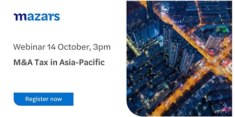 M&A Tax in Asia-Pacific tickets