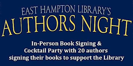Authors Night 2021 - in-person book signing and cocktail party tickets