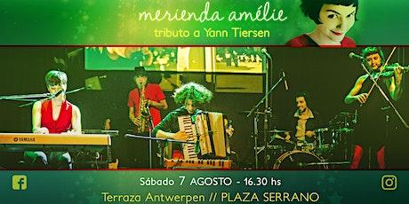Merienda Amélie en la terraza / Plaza Serrano entradas