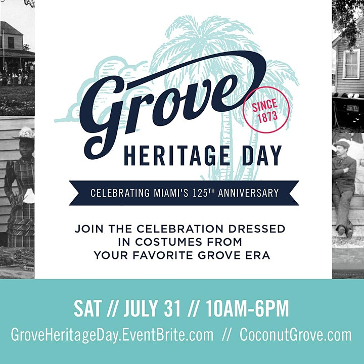 Grove Heritage Day  in Honor of Miami's 125th Anniversary image