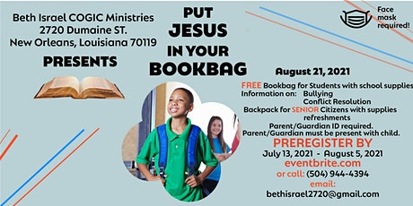 PUT JESUS IN YOUR BOOKBAG tickets