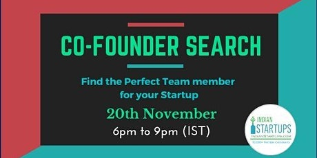 Co-Founder (Founding Team) Search (India/Global) Tickets