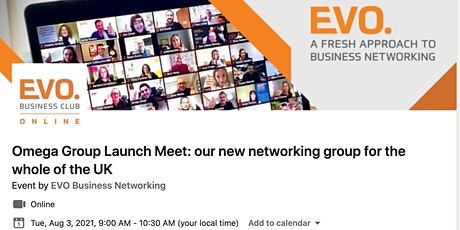 EVO Omega - Launch Meeting of our 1st nationwide networking group tickets