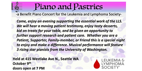 Piano and Pastries:  A Benefit Concert to End Leukemia and Lymphoma tickets