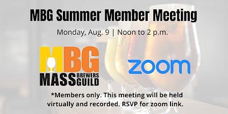 MBG Summer Member Meeting (VIRTUAL) tickets