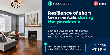 Resilience of short term rentals during the pandemic: Webinar tickets