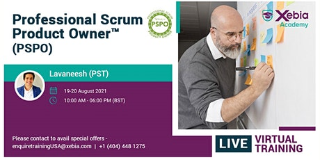 Professional Scrum Product Owner |PSPO | Live Virtual  | UK | Europe tickets