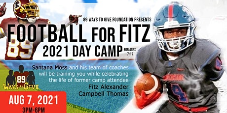 89 Ways To Give Foundation presents Football for Fitz 2021 Day Camp tickets