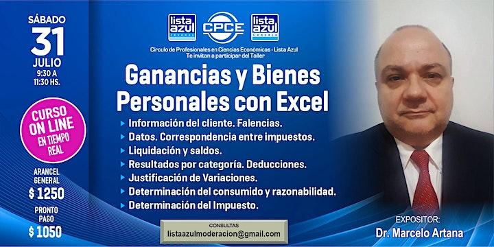 Imagen de Ganancias y Bienes Personales con Excel