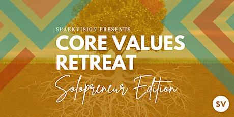 Soloprenuer Values Retreat tickets