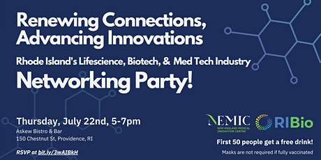 RI MedTech & Lifescience Networking Party - Renewing Connections tickets