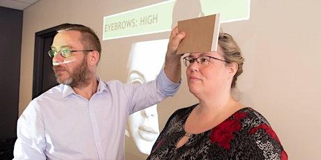 Face Reading English - Level 1 - Online (Aug14 & 21 - 2 half days) billets