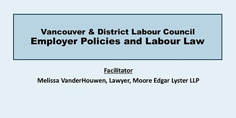 Employer Policies and Labour Law ( All Levels) tickets