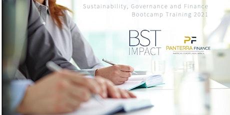 Sustainability, Governance and Finance - Bootcamp Training biglietti