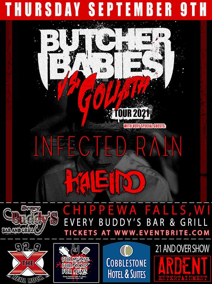 Butcher Babies, Infected Rain, Kaledio image