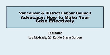 Advocacy: How to Make Your Case Effectively ( All Levels) tickets