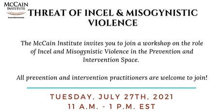 Threat of Incel & Misogynistic Violence Workshop tickets