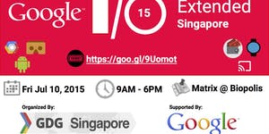 Google IO Extended 2015 - Singapore