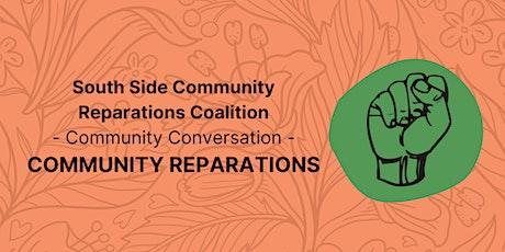 SSCRC Community Conversation: Community Reparations tickets