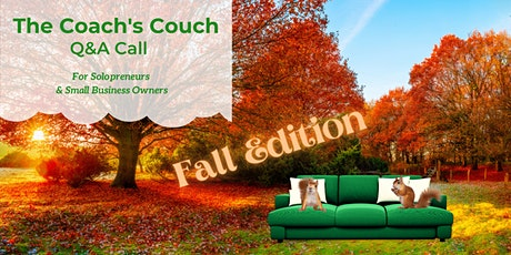 Solopreneur Coach's Couch LIVE Q&A Call  (9/22) tickets