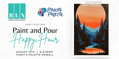 BLOC-O Networking Paint and Pour Happy Hour at Pinot's Palette Powell tickets