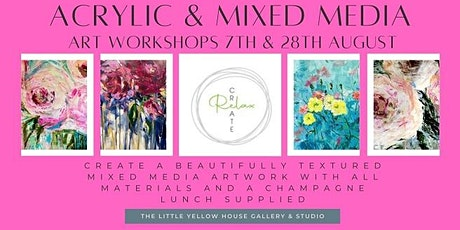 Create, Relax - Acrylic & Mixed Media Art Workshop tickets