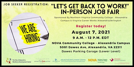 Let's Get Back to Work: In-Person Job Fair - Job Seeker tickets