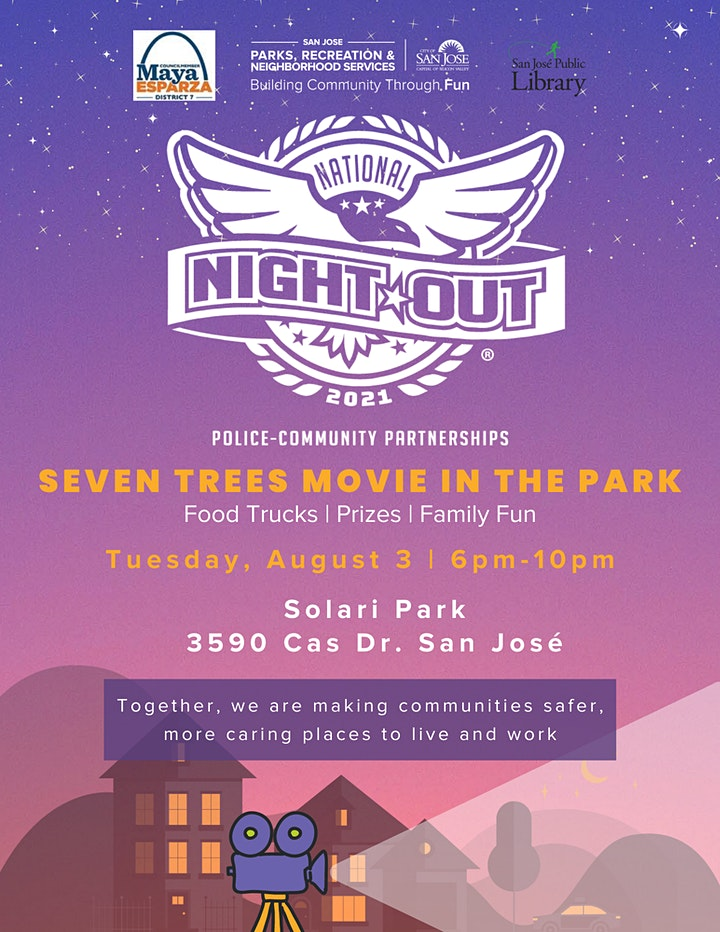 FREE National Night Out Family Movie Night image