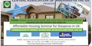 CANUK's Affordable Housing Seminar for Diasporas in UK