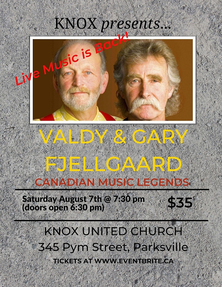 Canadian Legends of Music: Valdy and Gary Fjellgaard image