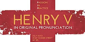 Henry V in Original Pronunciation