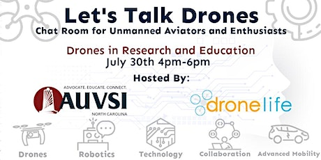 """Let's Talk Drones (July 2021) """"Drones in Research and Education"""" tickets"""