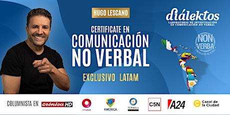 LATAM / Certificación en Comunicación No Verbal con Coaching Dialéctico boletos