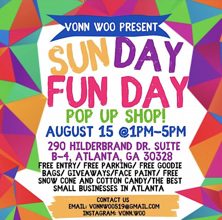 Sunday Funday Pop Up Shop image