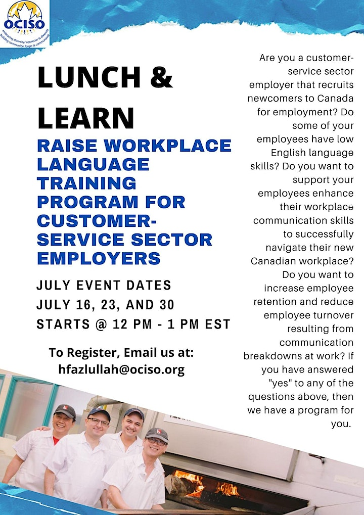 Lunch and Learn with RAISE Workplace Language Training Program image