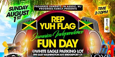 Jamaica independence  day rep your flags at white eagle car park adm free!! tickets