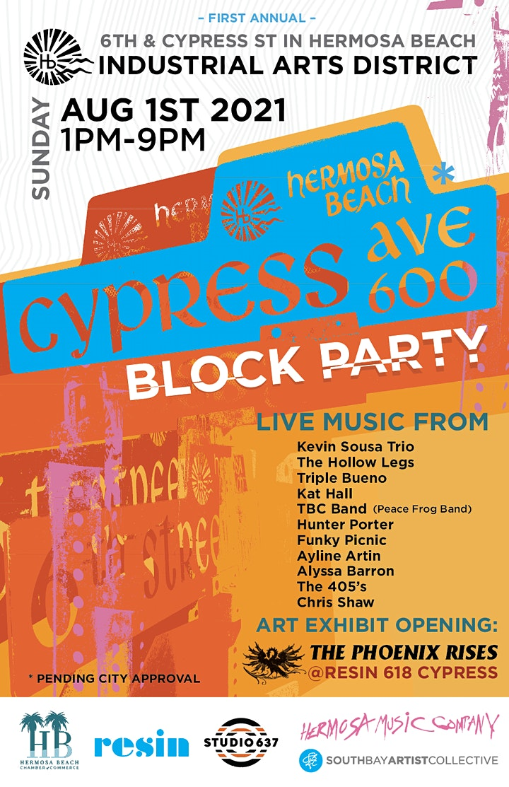 CYPRESS BLOCK PARTY - Music x Art @ HB Industrial Arts District image