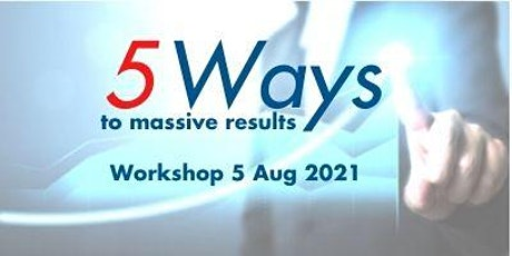 5 Ways to Grow your Profits by 61%: a Face to Face workshop tickets