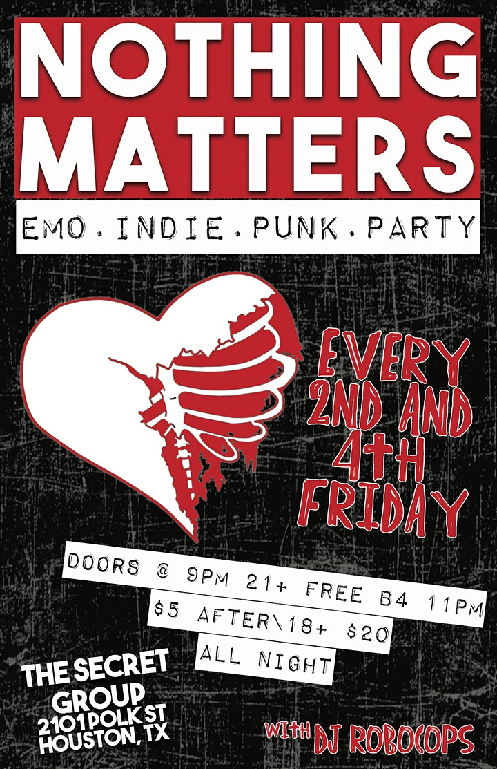 NOTHING MATTERS Emo | Indie | Punk Dance Party image